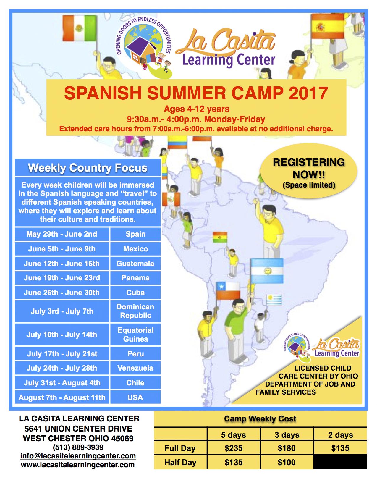 Spanish Summer Camp - La Casita Learning Center